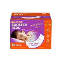 Sposie Booster Pads with Adhesive For Overnight Diaper Leak Protection - 84ct