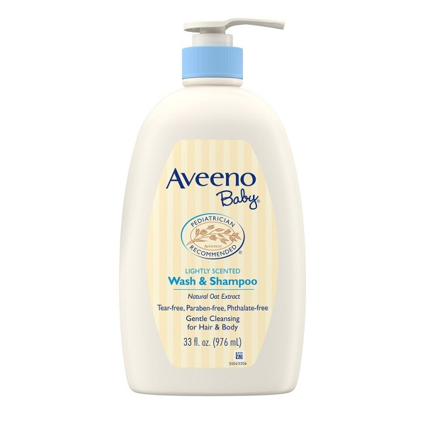 Aveeno Baby Gentle Wash And Shampoo with Natural Oat Extract - 33fl.oz