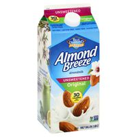 Blue Diamond Almond Breeze Almondmilk Unsweetened Original Almondmilk Non Dairy Milk Alternative