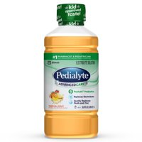 Pedialyte AdvancedCare Electrolyte Solution with PreActiv Prebiotics, Hydration Drink, Tropical Fruit, 1 Liter