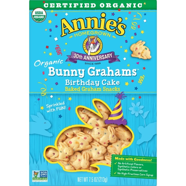 Astonishing Annies Homegrown Organic Birthday Cake Bunny Grahams From Kroger Birthday Cards Printable Nowaargucafe Filternl