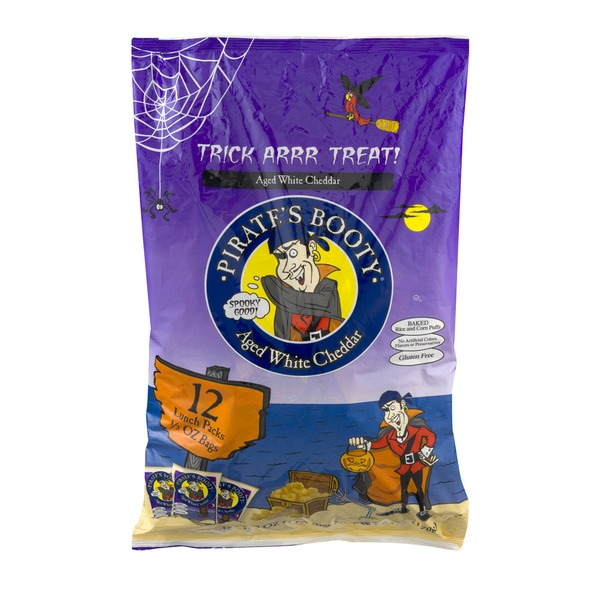 Pirate's Booty Aged White Cheddar Bags - 12 CT