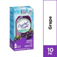 Crystal Light Sugar Free Grape Powdered Energy Drink Mix, 10 ct - 0.11 oz Packets
