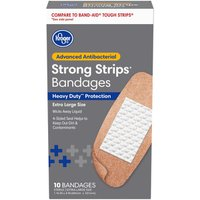 "Kroger 1 3/4"" x 4"" One Size Extra Large Advanced Antibacterial Fabric Bandages"