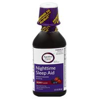 Signature Care Sleep Aid, Nighttime, 50 mg, Berry Flavor