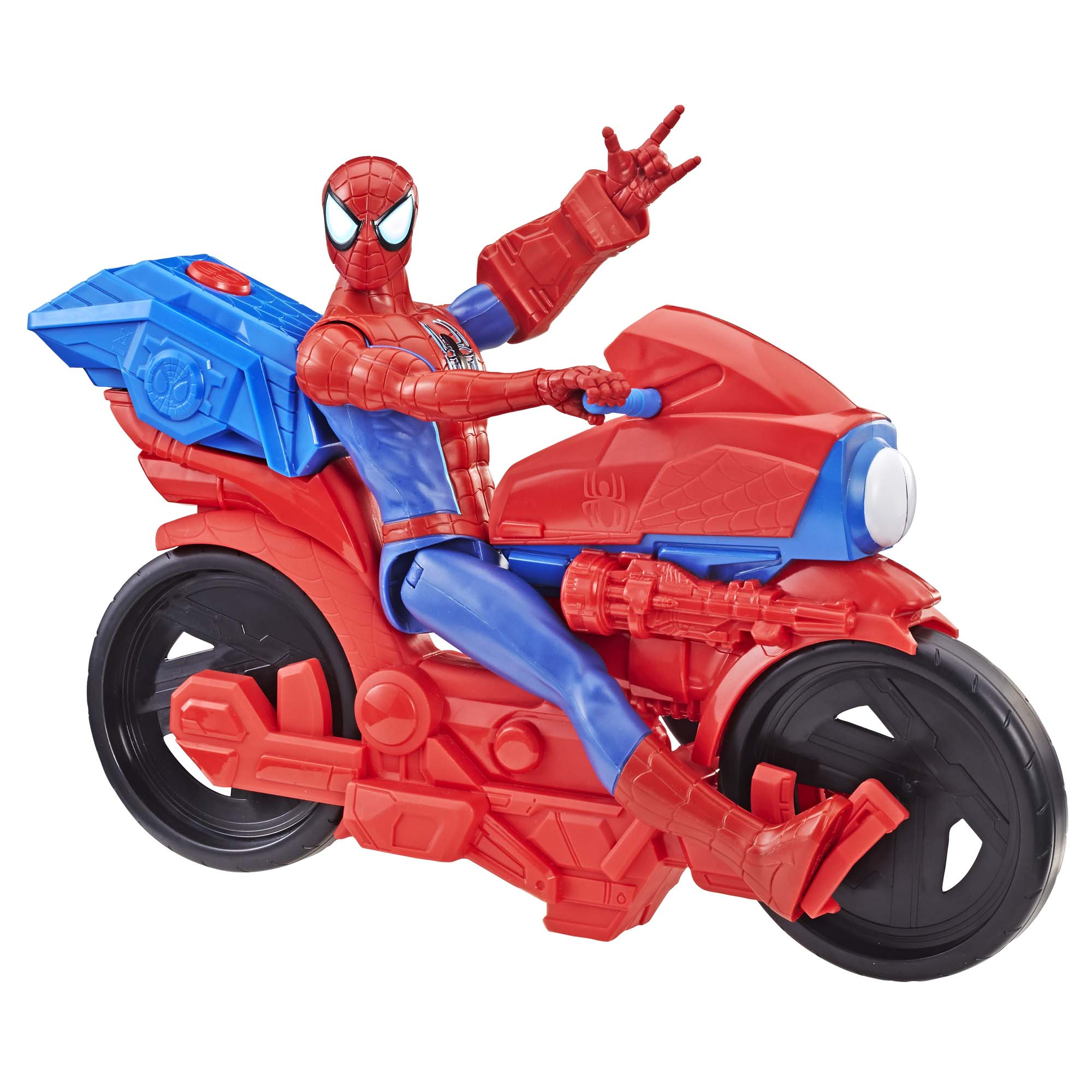 Spider-Man Figure with Power FX Cycle Plays Sounds and Phrases