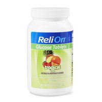 ReliOn Tropical Fruit Glucose Tabs, 50 Ct