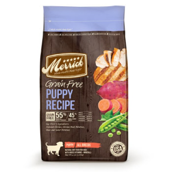 Merrick Grain Free Puppy Real Chicken + Sweet Potato Recipe All Breeds Natural Dry Food For Dogs