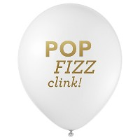 "12ct ""Pop Fizz Clink"" Party Balloons"