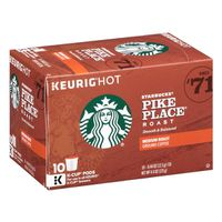 Starbucks Medium Roast K-Cup Coffee Pods — Pike Place Roast for Keurig Brewers