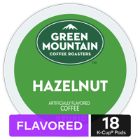 Green Mountain Coffee Hazelnut, Flavored Keurig K-Cup Pod, Light Roast, 18 Ct