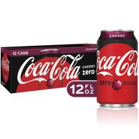 Coca-Cola Zero Cherry Flavored Soda, 12 Fl Oz, 12 Count