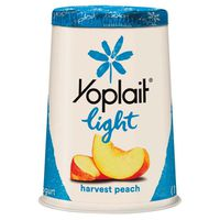 Yoplait Yogurt, Fat Free, Harvest Peach, Light