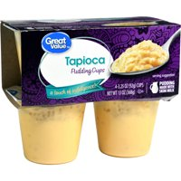 Great Value Tapioca Pudding Cups, 3.25 Oz., 4 Count