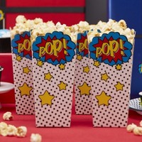 8ct Popcorn Boxes Comic Superhero