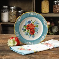 "The Pioneer Woman Stoneware 8.9"" Spring Bouquet Salad Plate"
