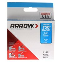 Arrow 3/8-Inch T50 Staples, 1250 Count