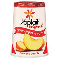 Yoplait Yogurt, Low Fat, Harvest Peach, Tub