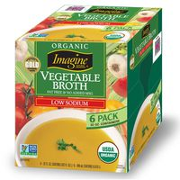 Organic Low Sodium Vegetable Broth, 6 Pack 32 Ounces Each