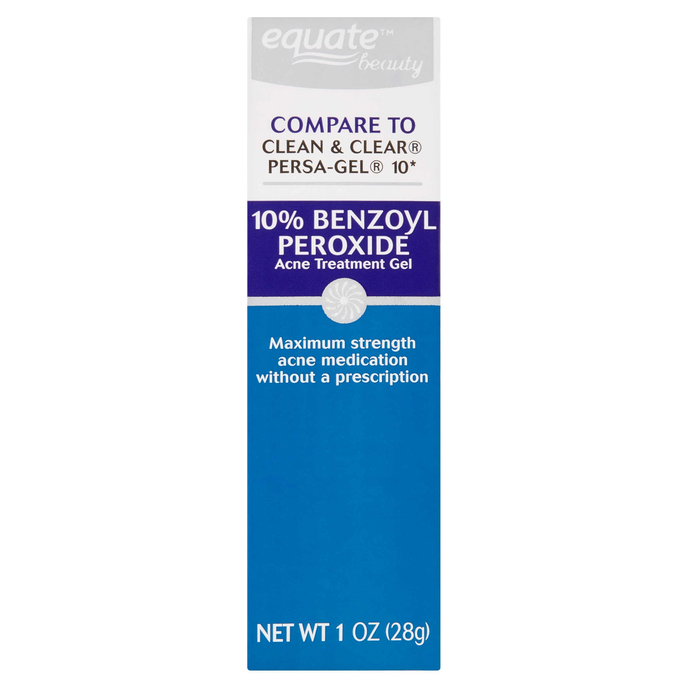Equate Beauty 10 Benzoyl Peroxide Acne Treatment Gel 1 Oz From