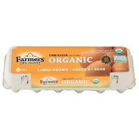 Farmers Hen House Organic Free-Range Large Brown Eggs - 12ct