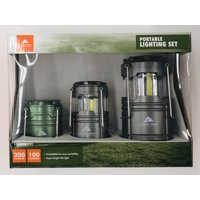 Ozark Trail 3 Pack Camping Lantern, COB Extendable Lantern, Includes 6 AAA And 3 AA alkaline Batteries