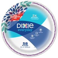 """Dixie Everyday Paper Dinner Plates, 10 1/16"""", 58 Count"""