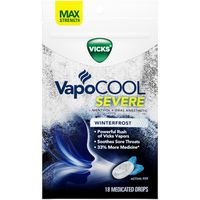 V VapoDrops VapoCOOL SEVERE Medicated Drops, Maximum-Strength Relief