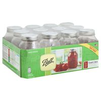 Ball Regular Mouth Quart Mason Jars with Lid