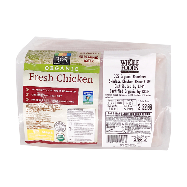 365 Everyday Value® Organic Boneless Skinless Chicken Breast
