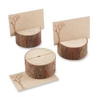12ct Rustic Real-Wood Place Card/Photo Holder