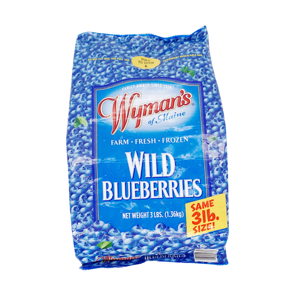 Wyman's Fresh Frozen Wild Blueberries, 3 lbs