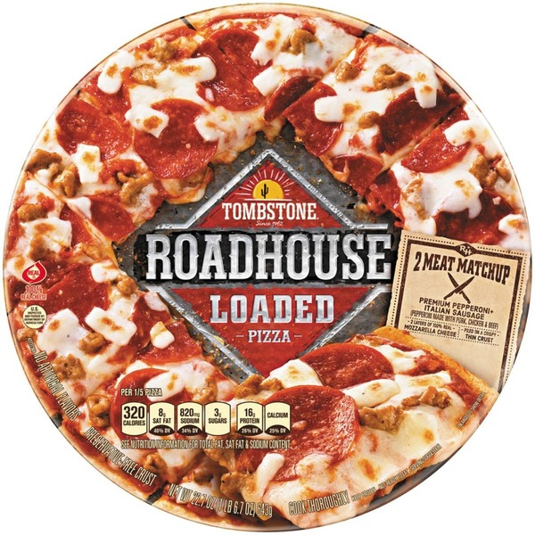 Tombstone Roadhouse Loaded Two Meat Matchup Tombstone Roadhouse Loaded 2 Meat Matchup Pizza
