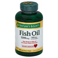 Nature's Bounty Fish Oil 1200mg Dietary Supplement Softgels