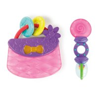 Bright Starts Tote & Teethe 2 Piece Chillable Teether & Rattle Set, Age 3 months +