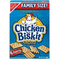 Chicken in a Biskit Original Baked Snack Crackers, Family Size, 12 oz
