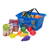 Spark. Create. Imagine. 24-Piece Shopping Basket with Food Play Set