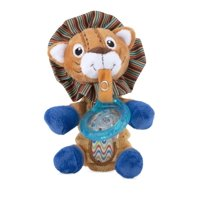 Nuby Snuggleez Plush Pacifinder with Small Natural Flex Cherry Pacifier, Lion 0-6+ Months - 1 Count