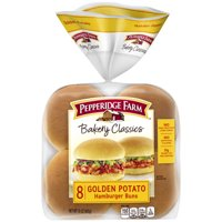 Pepperidge Farm Bakery Classics Golden Potato Hamburger Buns, 15 oz. Bag, 8-pack