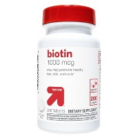Biotin 1000mcg Dietary Supplement Tablets - 200ct - Up&Up™