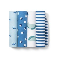 Flannel Baby Blankets Sleepy Tides 4pk - Cloud Island™