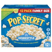 Pop Secret Microwave Popcorn, Homestyle, 3.2 Oz, 12 Ct