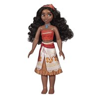 Disney Princess Moana of Oceania Fashion Doll with Skirt That Sparkles, Headband, and Necklace, Toy for 3 Year Olds and Up
