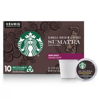 Starbucks Dark Roast K-Cup Coffee Pods — Sumatra for Keurig Brewers