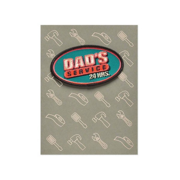 Father's Day Card Funny Service with Patch