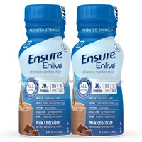 Ensure Enlive Meal Replacement Shake, 20g Protein, 350 Calories, Advanced Nutrition Protein Shake, Milk Chocolate, 8 fl oz, 4 Bottles
