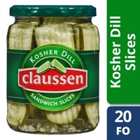 Claussen Kosher Dill Pickle Sandwich Slices, 20 fl oz Jar