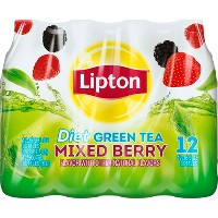 Lipton Diet Mixed Berry Green Tea - 12pk/16.9 fl oz Bottles