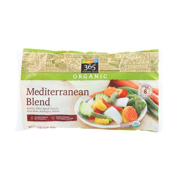 365 everyday value® Organic Mediterranean Blend Vegetables, 16 oz
