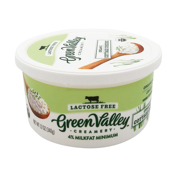 Green valley creamery Organic Lactose Free Cottage Cheese, 12 oz